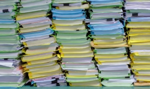 the stack of document in the office